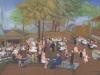 wedding reception oil painting, St. Louis, MO David Zamudio, 18x36,
