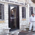 David Zamudio standing at the entrance of the St. Louis artists' Guild in Clayton, MO