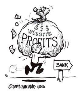 David Zamudio, Cartoon-website profits-St Louis Website Design