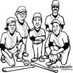 Softball team caricature st louis caricature artist Zamudios