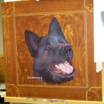 Akita pet portrait final colors Zamudio