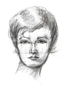 Art classes, drawing classes St Louis, Charcoal portrait female David Zamudio