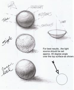Drawing spheres for practice with Artist David Zamudio