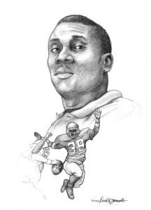 Portrait of a high school Football star by David Zamudio