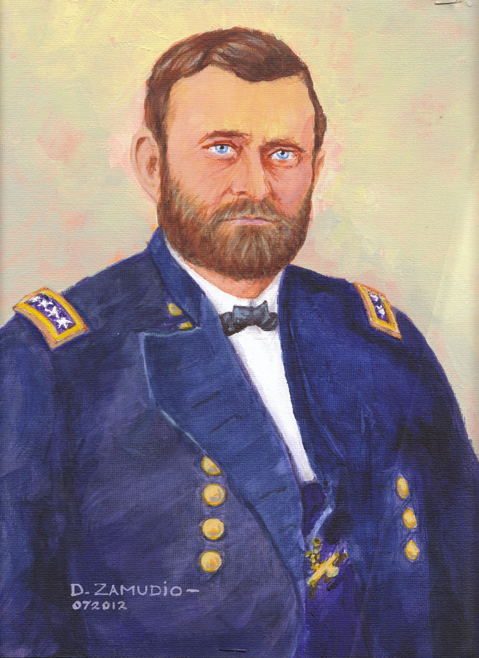 Portrait, acrylic, Gen.US Grant 9x12 Acrylic David Zamudio