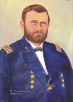 Acrylic portrait of General US Grant, 9x12