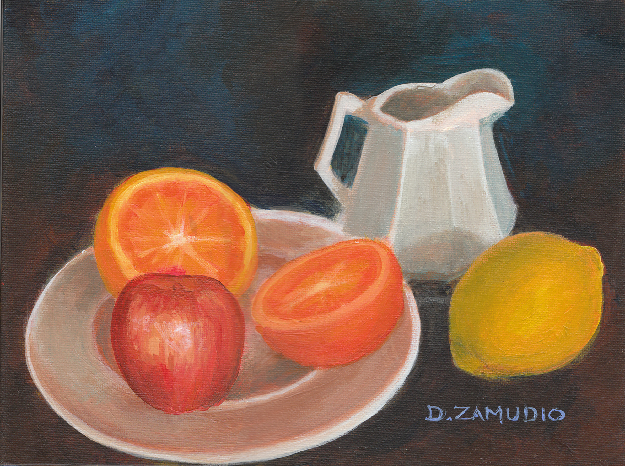 Still life fruit 1-9x12-Acrylics-