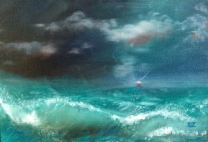 2016-Storm-at-Sea-S1- Oil on canvas  David Zamudio 9x12-o