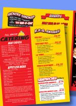 Bullys catering menu trifold design Zamudios