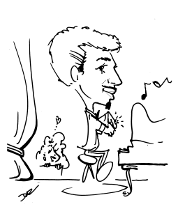 """Caricature Party Service by Zamudios """"At The Piano"""""""