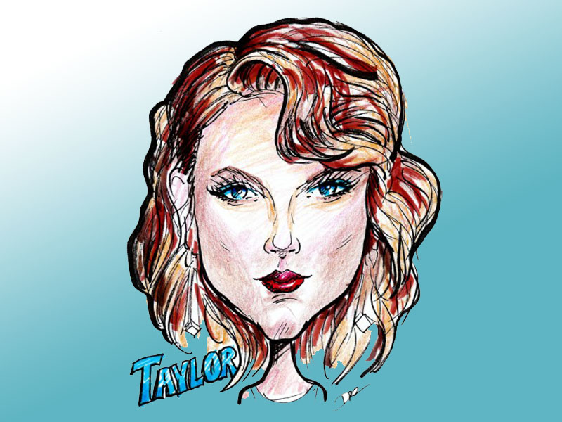 Caricature Art of Taylor Swift by David Zamudio