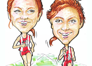 Caricature track stars running David Zamudio