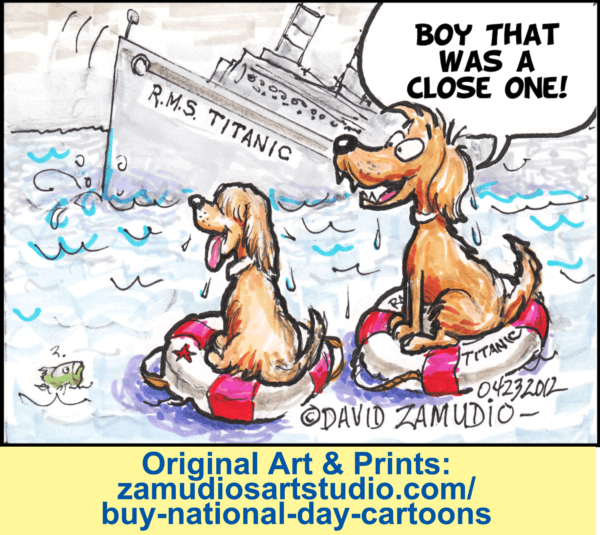 Cartoon Natl Titanic Rem Day Zamudio