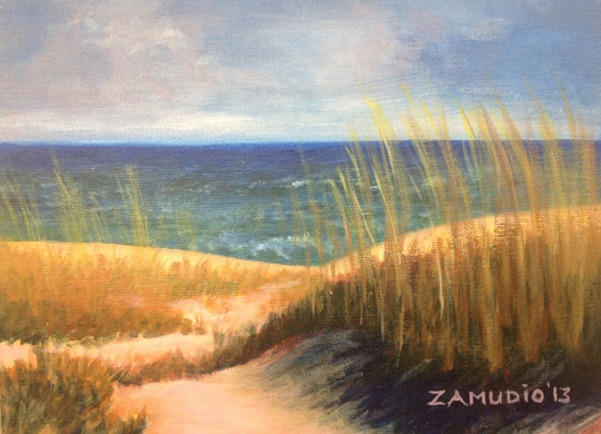 Seascape 2013 acrylic 9x12 canvas board D Zamudio