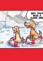 Cartoon Titanic Dogs Zamudio