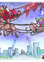 Children's Book illustration Santa Santa & son Runaway Sleigh by David Zamudio