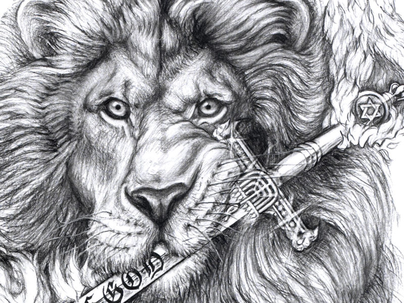 The Lion of Judah illustration by David Zamudio