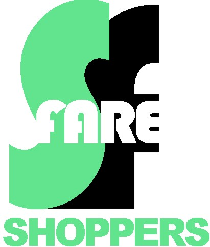 logo design using letters/text by David Zamudio Shoppers Fare