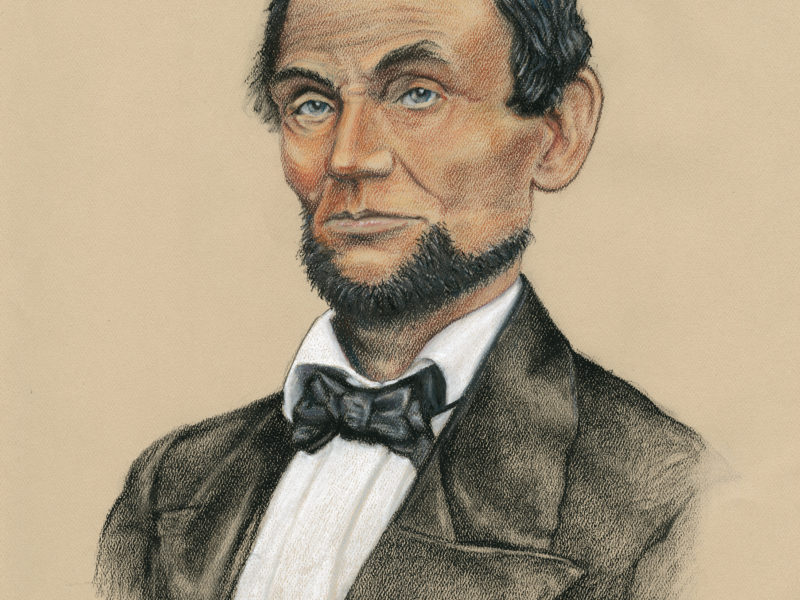 A. Lincoln Portrait by David Zamudio Charcoal, 16x20