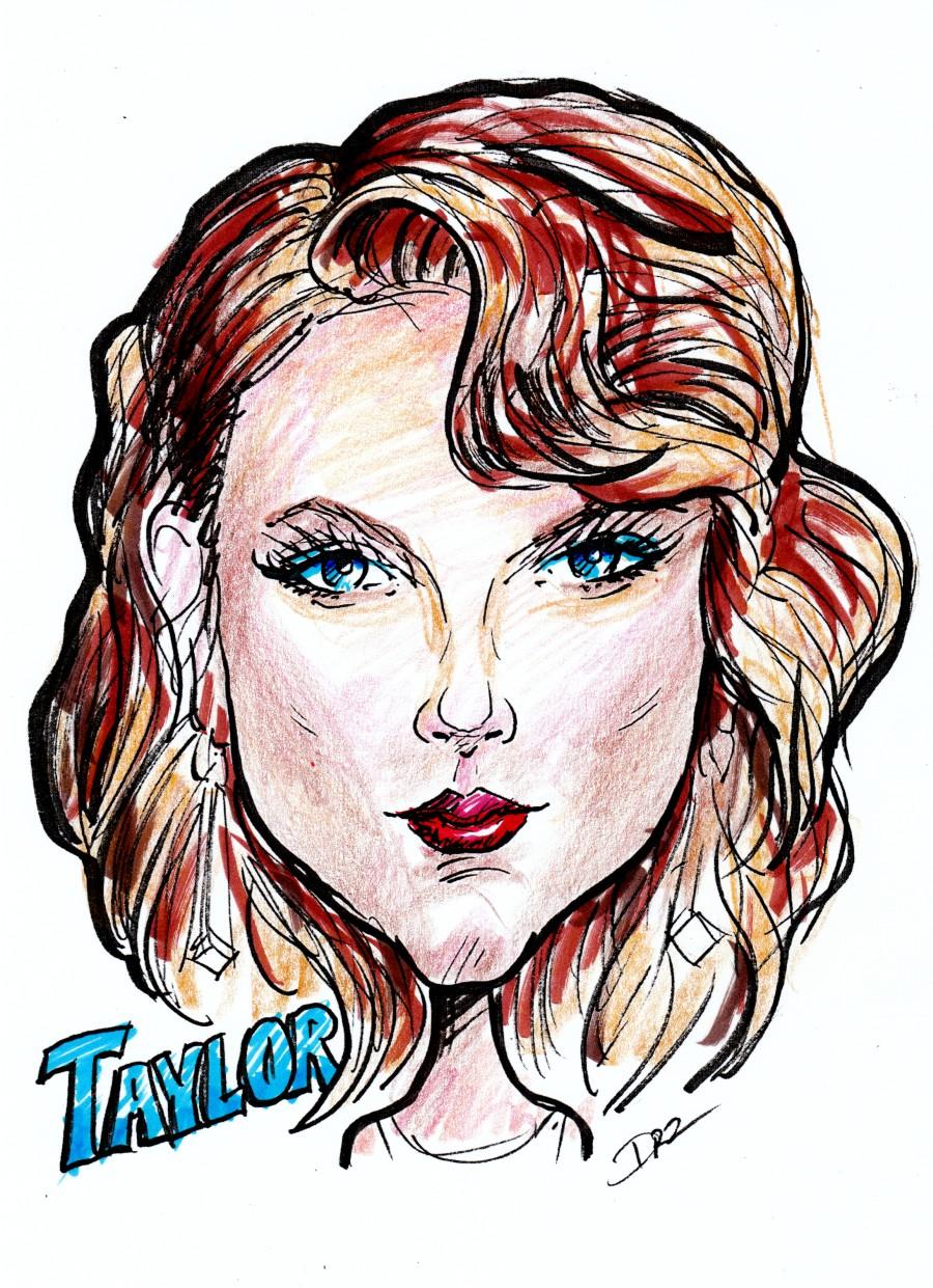 Caricature Art of Taylor Swift by David Zamudio