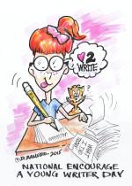 Young-Writer-cartoon D. Zamudio
