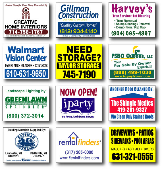 Landscape Commercial Sign: Yard Signs, St. Louis Screen Printing By Zamudios Art Studio- Coroplast Samples